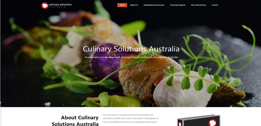Culinary Solutions WordPress website